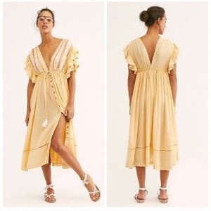 Free People Bali Will Wait For You Midi Dress